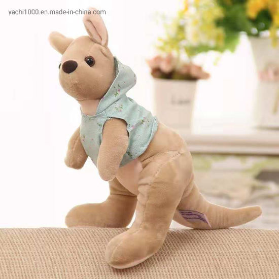 Stuffed Kangaroo Toy Plush with T-Shirt
