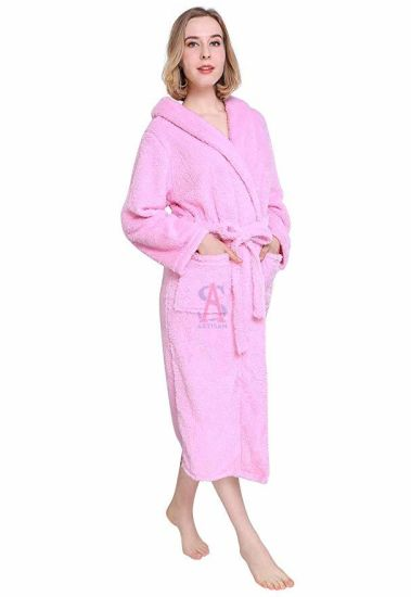 OEM Good Quality Cotton Velour Terry Bathrobe for Hotel SPA pictures & photos