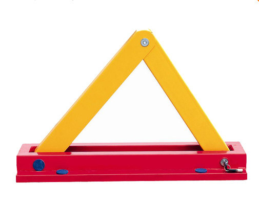 Triangle Yellow Manual Wheel Lock Parking Lock