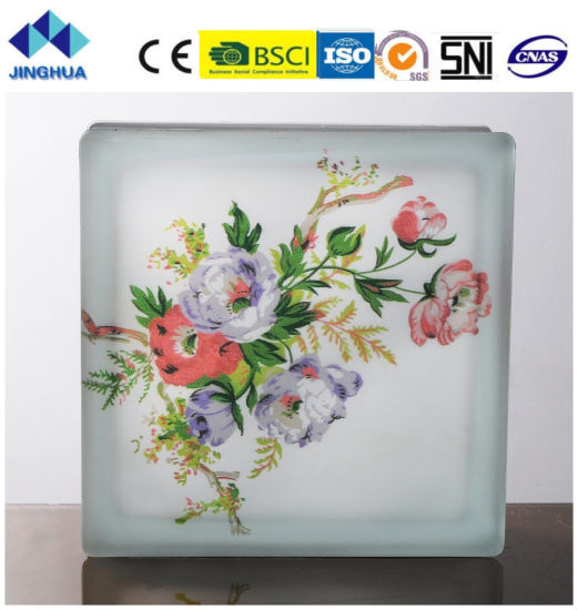China Jinghua High Quality Artistic P-18 Painting Glass Block/Brick ...