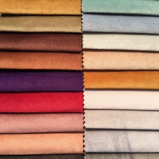 China 1 5usd M Knitting Velvet Plain Velvet Sofa Fabric Bl090 China Knitting Fabric And Upholstery Fabric Price