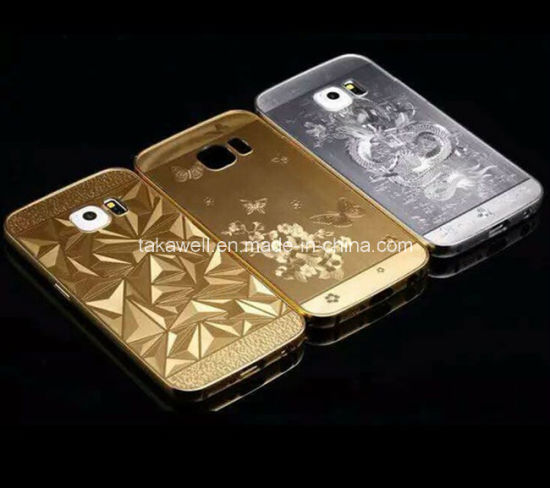 80fc7fead Aluminum Bumper+Acrylic Back Cover Laser Engraving Metal Cell Phone Case  for Samsung S6 Mobile Cover