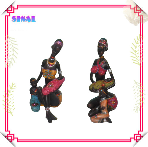 Popular Black Doll Souvenir, Resin Painting Negro Figurine