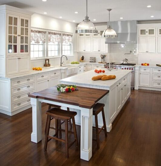 2015 Welbom American Kitchen Cabinet Solid Wood Modular Kitchen Design
