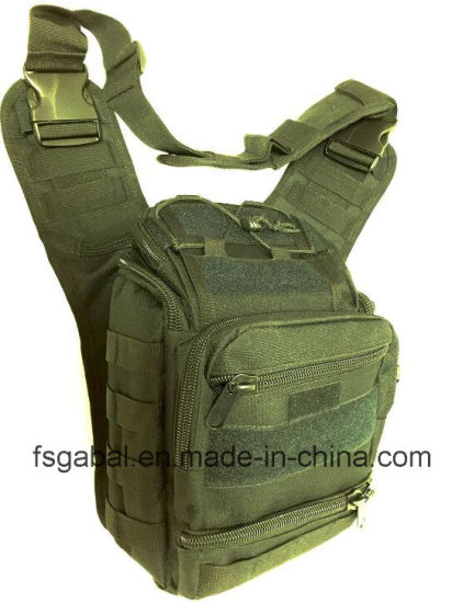 Outdoor Waterproof Military Camo Single Shoulder Saddle Bag pictures & photos