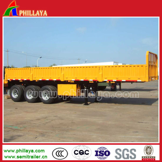 Flatbed Semi Trailer Lorry Trailer with 40FT Container Locks pictures & photos