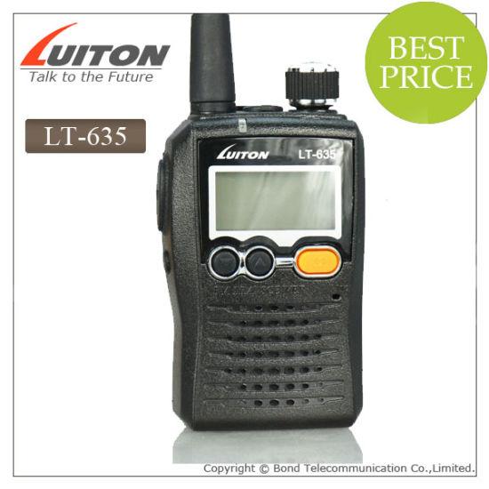 Small Handheld Radio Lt-635 Cheap VHF UHF Two Way Radio