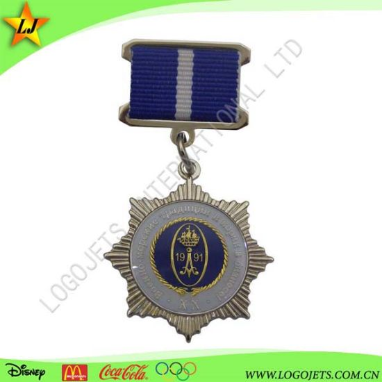 Hot Sale 3D Police Badge Honor Medal with Ribbon pictures & photos