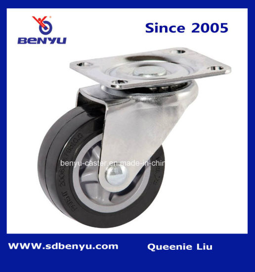 "3"" Light Duty Black Polyurethane Trolley Wheel"