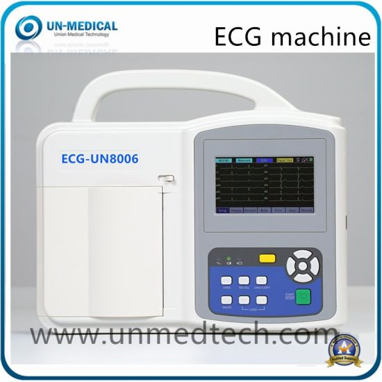Portable 12 Leads 6 Six Channels EKG Machine with Touch Screen