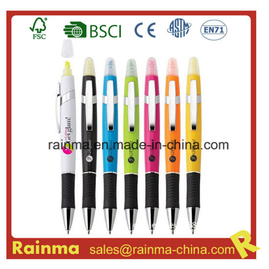 2 In1 Highlighter and Ball Pen for School Office Supply pictures & photos