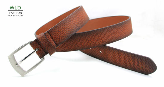 Classic and Basic Man Belt with Split Leather Linning M617