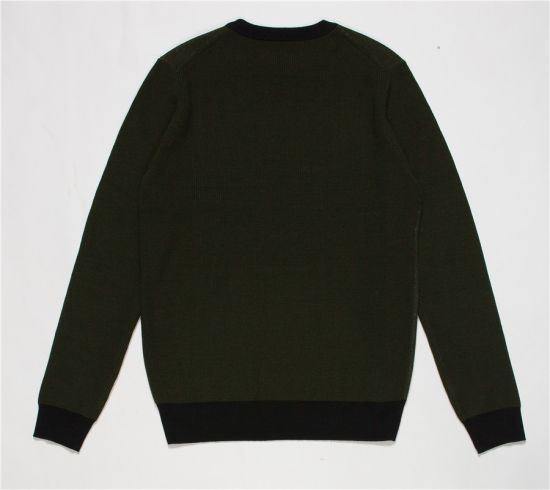 Whosale Round Neck Jacquard Knit Pullover Sweater for Men pictures & photos