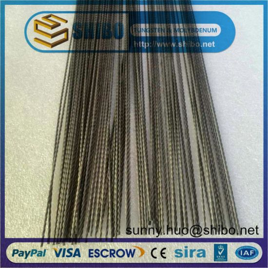 Twisted Tungsten Wire, Stranded Tungsten Wires with Competitive Price pictures & photos