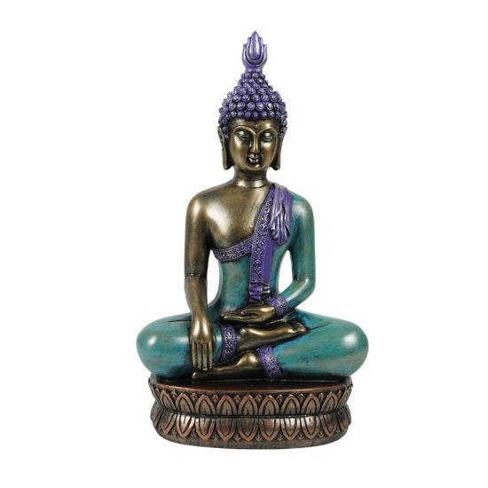 Spiritual Living Room Decor Home Yoga Zen Resin Sitting Meditating Buddha Statue