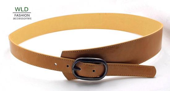 Classic Style Simple Buckle PU Belt Ky5919 pictures & photos