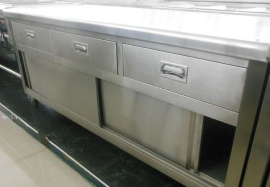 China Stainless Steel Kitchen Working Table with Cabinet and Drawers ...