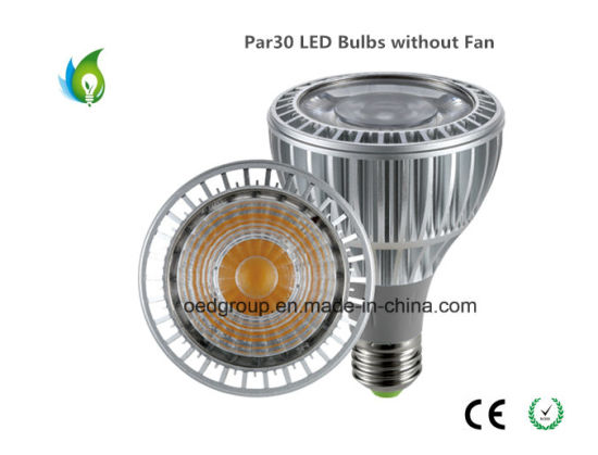 25W PAR30 LED Bulbs E27 Base with AC85-265V Aluminum Radiator Without Fan pictures & photos