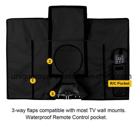 Grey Weatherproof Universal Protector for 40/'/' LED Outdoor TV Cover 42/'/' LCD