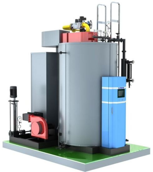 China 2t/H Vertical Condensing Gas-Fired Steam Boiler - China ...