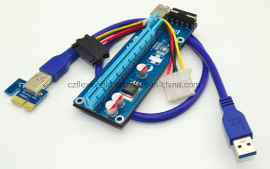 Ver005 Mini Pci E To Usb 3 0 Cable Riser Card Molex For Bitcoin