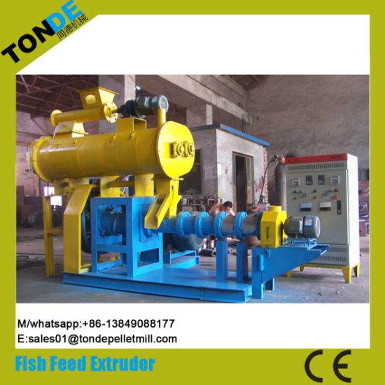 Ce Screw Wet Floating Fish Feed Pellet Making Extruder pictures & photos