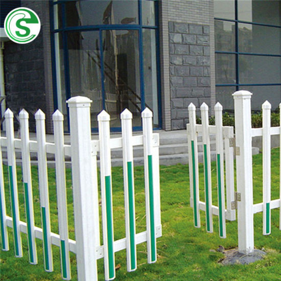 Decorative Colorful Plastic PVC Garden Field Picket Fence