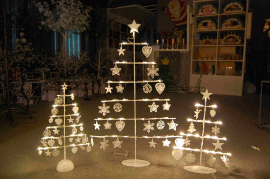 decoration led metal frame light for tree