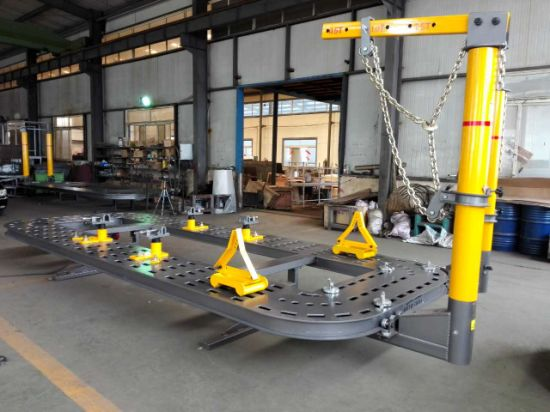 Portable Auto Body Frame Machine Rack on The Floor 10 Ton Puller