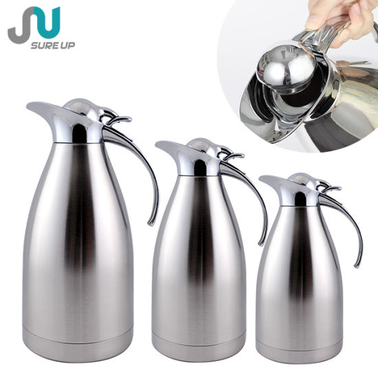 Airline 1 0l 5l 2 Stainless Steel Thermal Carafe Tea Coffee Pot For Hotel Use