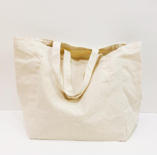 Wholesale Eco-Friendly Reusable Custom Design Palin Blank Organic Canvas Cotton Tote Bag with Gusset