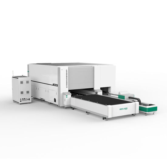 1000W 2kw 3000W metal steel and tube Pipe cutting with half Cover Protection Exchange Platform MAX RAYCUS IPG laser cutter