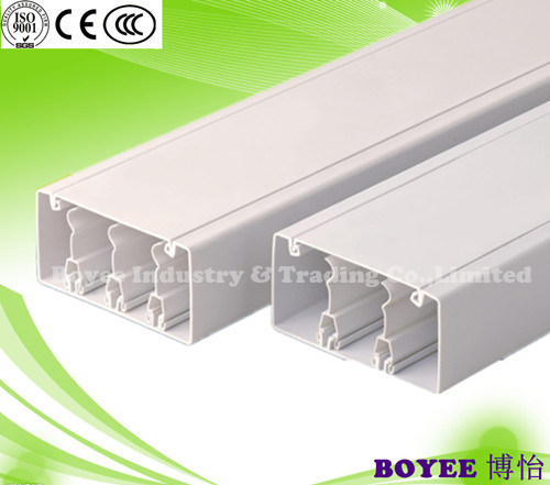 PVC Electrical Cable Duct with Two or Three Divider Trunking pictures & photos