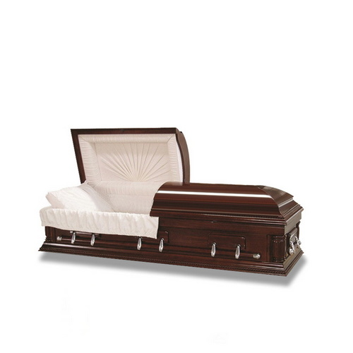 Funeral Equipment Solid Wood Wooden Casket of Half Couch