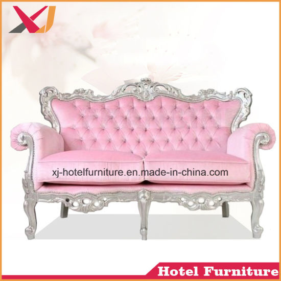China Wooden Double-Seat Sofa for Living Room/Restaurant/Hotel ...