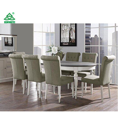 Coastlink Vegas 9 Piece Extension Oval Dining Table Set For 8 (Parson Chairs )