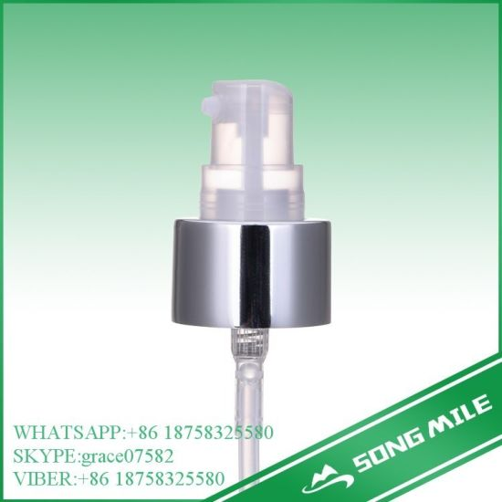 18/415 Good Quality Sliver Hot Sale Cream Pump for Cosmetic pictures & photos