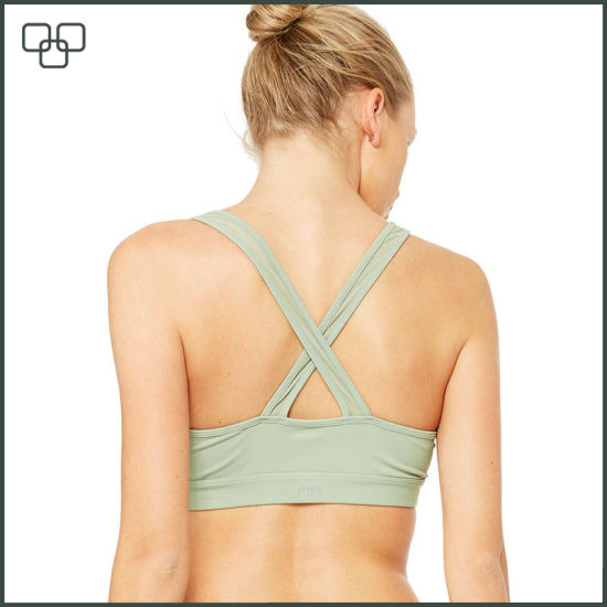 2017 Wholesale Custom Design Seamless Girls Sports Bra pictures & photos