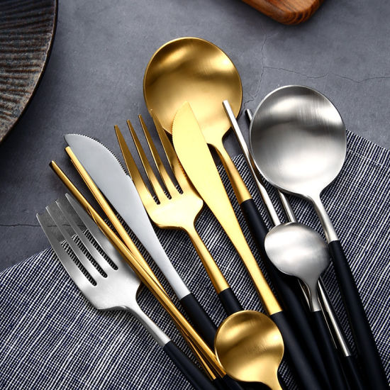 Wholesale Spoon and Fork 304 Stainless Steel Dinner Cutlery Set