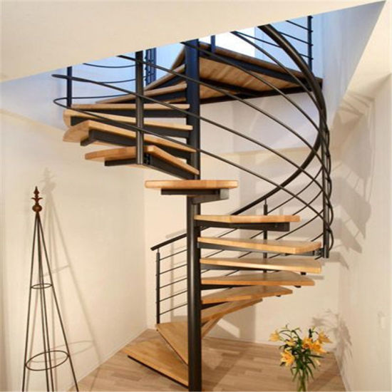 DIY Modern Spiral Glass Staircase With Stainless Steel Stairs Balustrade