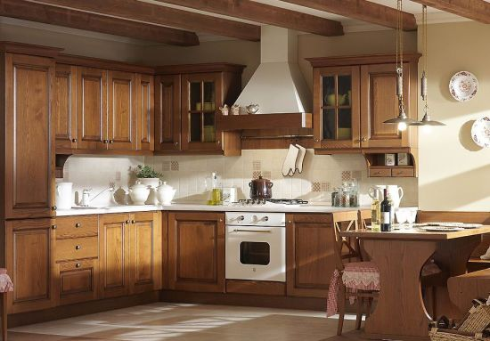 Solid Wood Modern Style Kitchen Design Philippines
