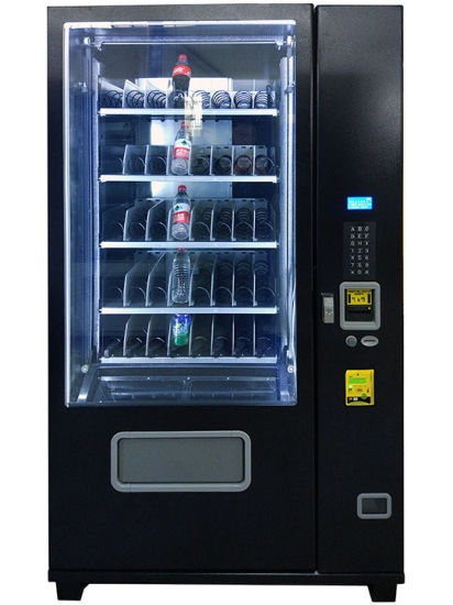 Elevator Equipped Drink Vending Machine (KM608) pictures & photos