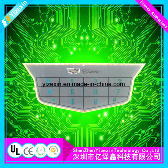 OEM Flat Type Membrane Switch Embossed Button with LED Display Panels