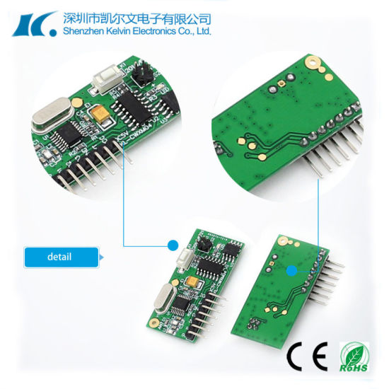 Good Quality Anti-Jamming MCU Super Heterodyne 433.92MHz RF Receiver Module Kl-Cwxm04