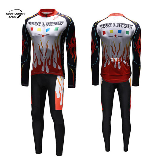 Cody Lundin Team Winter Cycling Jersey Set Bike Clothing Men Ropa Ciclismo Thermal Fleece Bicycle Cycling Wear