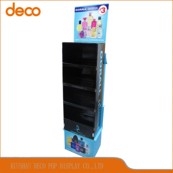 Pop Display Stand Paper Floor Cardboard Display Shelf for Perfume pictures & photos