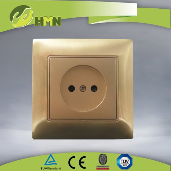 Ce/TUV/BV Certified European Standard Metal Zinc 1Gang GOLD Russian Socket