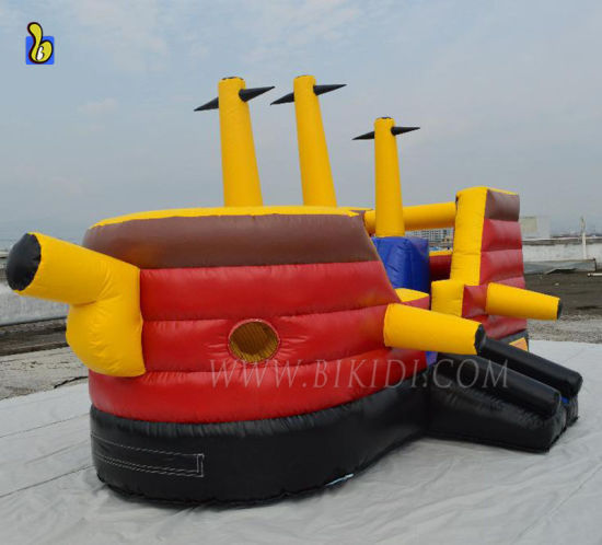 Pirate Ship Inflatable Jumping Bouncer for Amusement Park B1022 pictures & photos