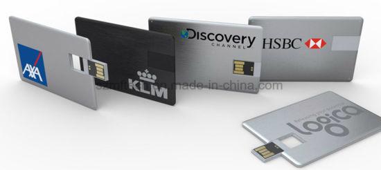 4GB Waterproof High Quality Metal Credit Card USB Flash Drive pictures & photos