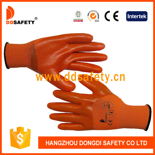 3/4 Orange PVC Coated Protective Gloves